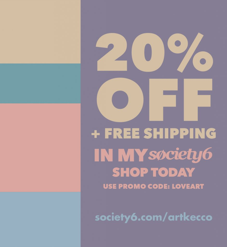 Free Shipping + 20% Off Everything in My Artkecco Shop Today