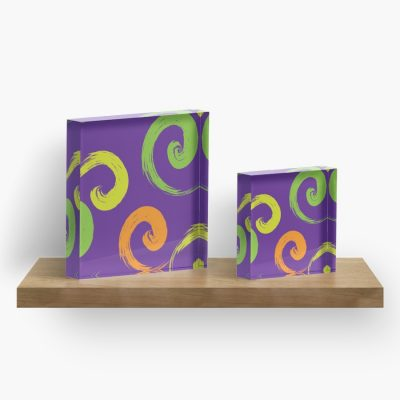 5 ways to get that summer fun feeling at home. Artkecco Purple Calypso acrylic block