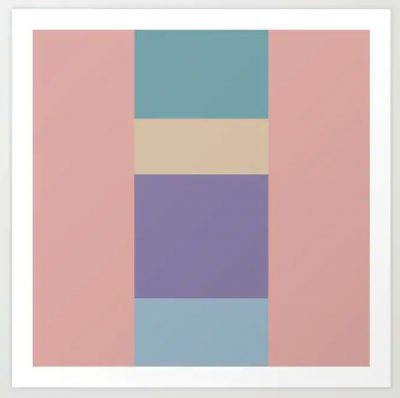 Artkecco Art Prints Perfect Pastels Three