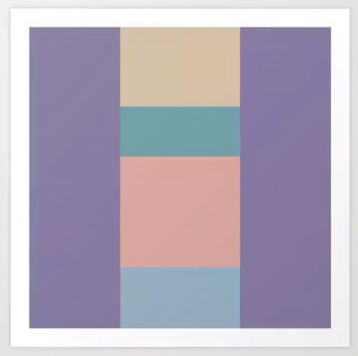 Artkecco Art Prints Perfect Pastels One