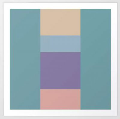 Artkecco Art Prints Perfect Pastels