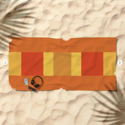 5 ways to get that summer fun feeling at home. Artkecco Tequila Sunrise No. 4 beach towel
