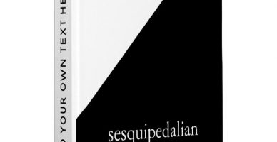 Sesquipedalian Black and White Binder